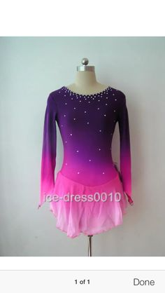 My daughter's Free Skate Competition dress.  Gorgeous on the ice.
