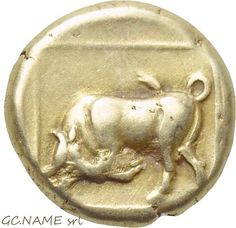 Ancient Greek: LESBOS. Mytilene. EL Hekte (Circa 377-326 BC).Gold Oro Or #456