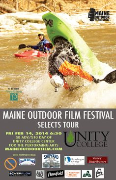 The Maine Outdoor Film Festival, which launched its first annual event on the banks of the Kennebec in West Forks in summer of 2012, features outdoor films and shorts. Films in the festival represent a diverse selection of outdoor disciplines that celebrate the active outdoor community and inspire expression. #GMOW #PlayLocal #Maine