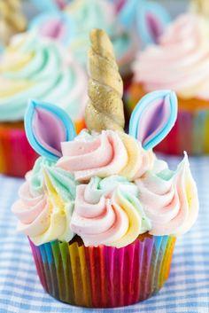 Thermomix unicorn cupcakes