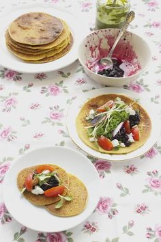Chickpea Flour Crepes with Summer Berry Marmalade