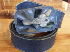 Vintage Key Mosaic belt buckle by Studio11Online on Etsy