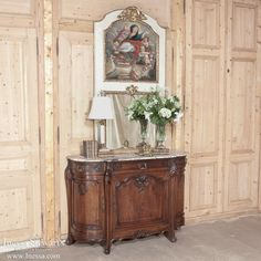 Antique Mirrors and Decor | Antique Trumeaux | 19th Century French Trumeau With Madonna | www.inessa.com
