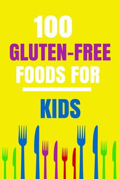 100 Gluten Free Foods for Kids with Grocery List. Allergy Free Recipes, Gluten Free Snacks, Gluten Free Diet, Foods With Gluten, Gluten Free Cooking, Sin Gluten, Dessert Sans Gluten, Donuts, Gluten Free Living