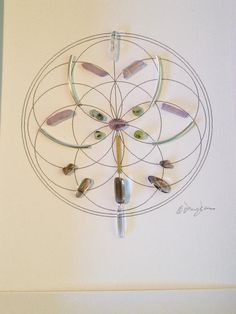 Lotus Wisdom Sacred Geometry Crystal Grid Seed of life Background Lavander Aura Quartz Smokey Quartz Prehnite with Epidote Clear Quartz Silver Plated Metal Accents Metalic Gold Frame with Double Matt Ready to hang Healing Stones, Crystal Healing, Metal Wall Grid, Seed Of Life, Crystal Grid, Smokey Quartz, Sacred Geometry, Clear Quartz, Stones And Crystals