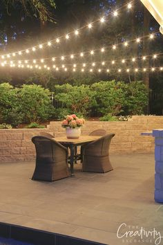 Quick Tips for Hanging Outdoor String Lights - Outdoor Lighting - Ideas of Outdoor Lighting - Hanging Outdoor Lights Backyard String Lights, Outdoor Hanging Lights, Backyard Lighting, Outdoor Light Fixtures, Outdoor Lighting, Lighting Ideas, Lights For Patio, Club Lighting, Solar String Lights