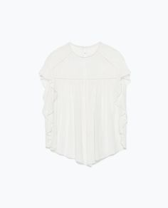 Image 8 of EMBROIDERED FRILLY TOP from Zara