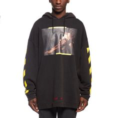 S.Francesco hoodie sweatshirt from the F/W2016-17 Off-White c/o Virgil Abloh collection in black