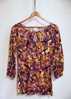 Anthropologie Postmark TRACED TEARDROPS Pullover Top Shirt Sz S Multi-color #Postmark #PulloverTee