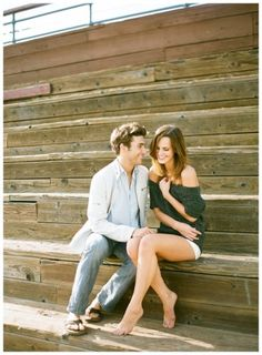 santa monica pier engagement shoot, love the outfits too