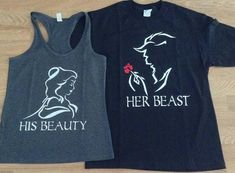 Disney His Beauty & Her Beast Couples T by 4everBigRedCreations