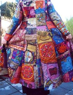 Gypsy: #Bohemian patchwork coat.