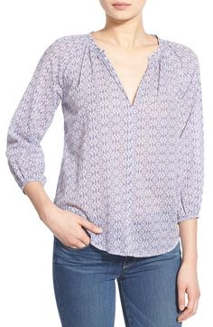 velvet by graham spencer cotton voile peasant blouse available at nordstrom