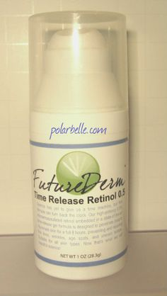 FutureDerm Time Release Retinol - a must have skincare product.  click thru for review