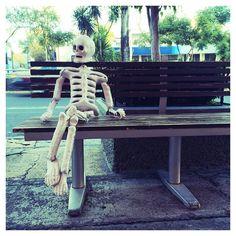 """Just chilling guys!"" #skeleton #halloween #diademuertos #dayofthedead"