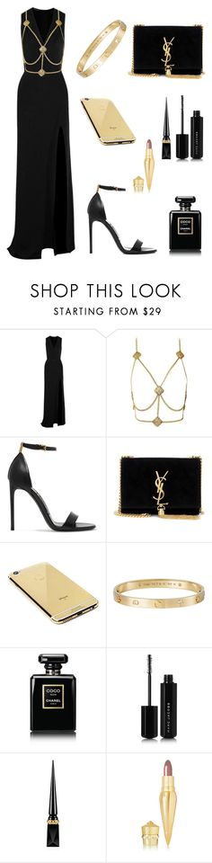 """Bez naslova #120"" by ilmatokanovic13 ❤ liked on Polyvore featuring Balmain, Tom Ford, Yves Saint Laurent, Goldgenie, Cartier, Chanel, Marc Jacobs and Christian Louboutin"