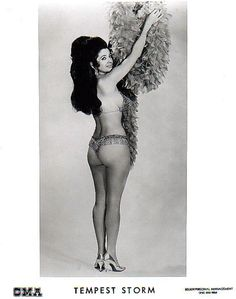 Tempest Storm in a late-60's promotional photo..