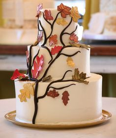 Fall Wedding Cake by The Wow Factor Cakes, via Flickr