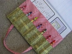 Cool things to make with school supplies: altered composition book