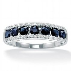 Paris Jewelry 10k White Gold 2 Carat Genuine Blue Sapphire Diamond Ring Paris Jewelry, http://www.amazon.com/dp/B00787LJP8/ref=cm_sw_r_pi_dp_4f0.qb0XQC8E0