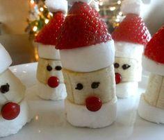 Banana Marshmallow Santa Heads