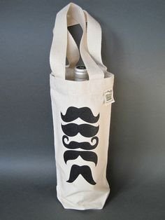 wine and moustaches Cute Canvas, Bottle Bag, Cotton Canvas, Purses And Bags, Great Gifts, Reusable Tote Bags, Wine, Canvas Bags, Moustaches