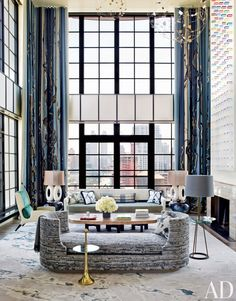 Modern Living Room by Jean-Louis Deniot in West Side, Manhattan