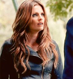"""castleramblings: """" """" // """" Oh God when her face breaks into that smile, just for him. Castle Abc, Castle Tv Series, Castle Tv Shows, Castle Beckett, Stana Katic, Her Smile, Hair Today, Movie Tv, Beautiful Women"""