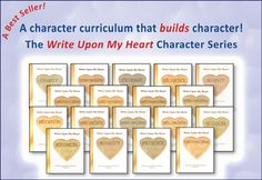 Keepers of the Faith offers an in depth character curriculum, Write Upon My Heart.  The curriculum set includes books implementing one of the each 18 character traits.