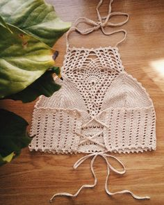 FREE SHIPPING Crochet top Crochet halter crop by HplusQknitwear