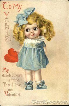 CLAPSADDLE ,St. Valentine's Day postcard.