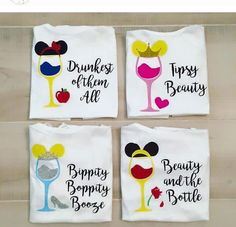 "Disney ""Drinking Around the World"" shirts! Princess style!"