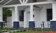 A very unique design on these front porch columns. From Front-Porch-Ideas-and-More.com  #porch #columns