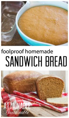 Try this homemade sandwich bread recipe; you'll be surprised how easy it is. Use it for lunchtime sandwiches or toast it and spread on your favorite jam. Baking yeast bread just isn't that hard - you can do this!
