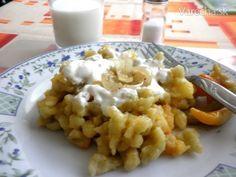 Cesnakové halušky (fotorecept) - Recept Cauliflower, Macaroni And Cheese, Vegetables, Ethnic Recipes, Food, Green Papaya Salad, Basket, Mac And Cheese, Cauliflowers
