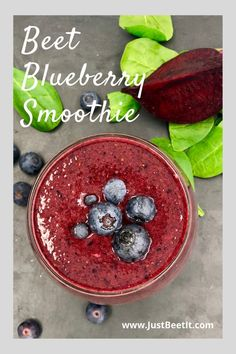 Beet Blueberry Antioxidant Vegan Smoothie — Just Beet It Antioxidant Smoothie, Cacao Smoothie, Juice Smoothie, Fruit Smoothies, Healthy Smoothies, Vegan Smoothie Recipes, Nutribullet Recipes, Healthy Recipes, Healthy Food