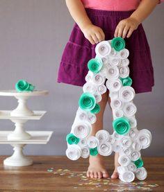 Цифры на день рождения своими руками | http://www.babyroomblog.ru/