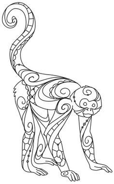 Click to see printable version of cheetah family coloring for Spider monkey coloring page