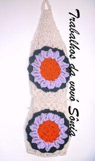 Trabalhos da vovó Sônia: Porta-papel higiênico margarida estilizada - croch...