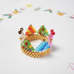 Beaded Animals, Brick Stitch, Beading Patterns, Beaded Jewelry, Stud Earrings, Beads, Crafts, Flower, Rings