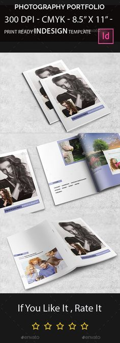 Photography Portfolio Brochure Template InDesign INDD #design Download: http://graphicriver.net/item/photography-portfolio/13220732?ref=ksioks
