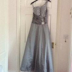 Silver bridesmaid dress size 6