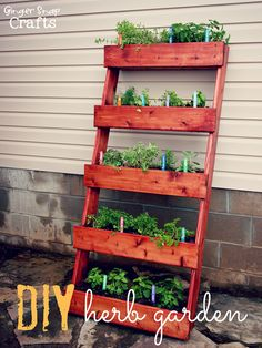 DIY & Crafts - Gardening: Vertical Herb Garden Tutorial!