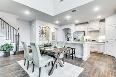 Elegant and simple kitchen area. Kitchen Dining, Kitchen Decor, Dining Table, Bloomfield Homes, Home Kitchens, Elegant, Decoration, Simple, Furniture