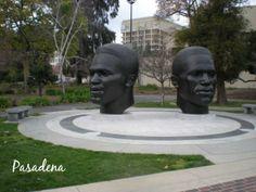 Jackie and Mack Robinson Memorial at Pasadena City Hall - Pasadena, California Pasadena City Hall, Mobile Notary, Atwater Village, Notary Public, Eagle Rock, Griffith Park, Pasadena California, Jackie Robinson, Echo Park