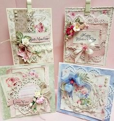 Vintage in KC cards, shabby chic cards, Mother's Day cards