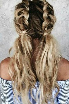 Cute Hairstyles For School, Easy Hairstyles For Long Hair, Teen Hairstyles, Braided Hairstyles, Braided Ponytail, Everyday Hairstyles, Hairstyle Ideas, Hairstyles 2018, Wedding Hairstyles