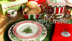 LOVE Mandy Bagwell Simply Christmas  :) I can see my table setting at Christmas!