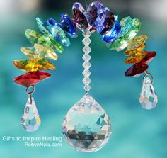 Chakra Rainbow Crystals: Inspirational art for your window
