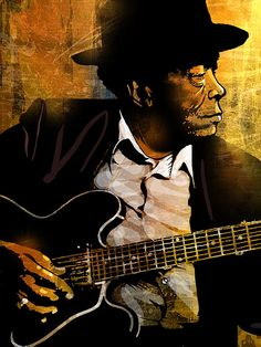 John Lee Hooker Poster by Paul Sachtleben. All posters are professionally printed, packaged, and shipped within 3 - 4 business days. Jazz Blues, Rhythm And Blues, Blues Music, John Lee Hooker, Norman Rockwell, Monet, Musik Illustration, Jazz Art, Music Artwork